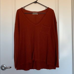 Relaxed fit red fall sweater